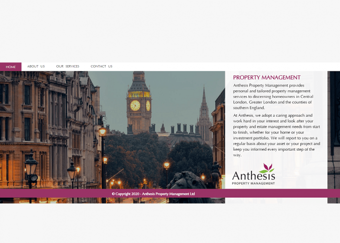 Screenshot Anthesis Property Management