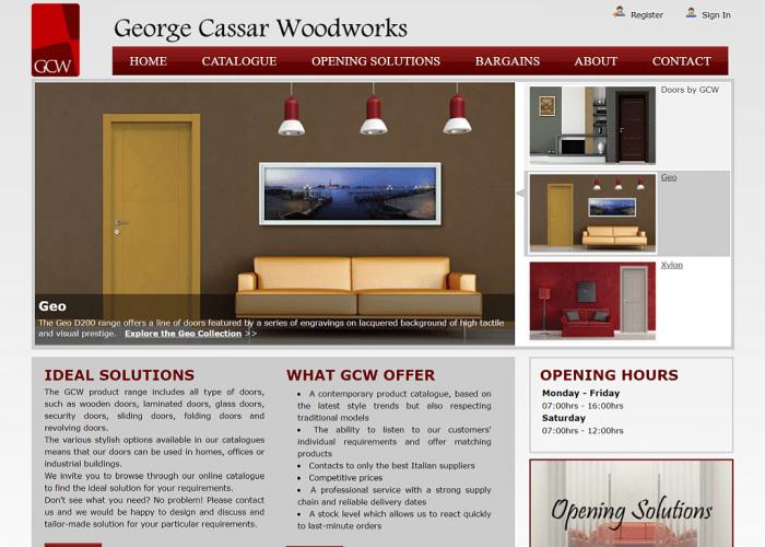 Screenshot George Cassar Woodworks