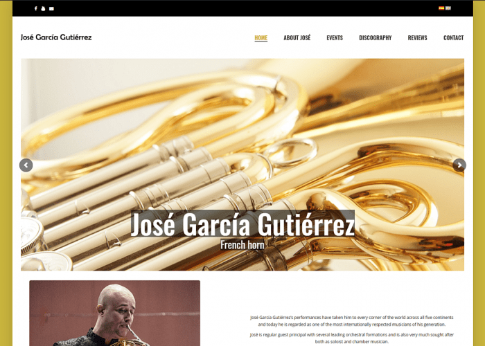 Screenshot From José García Gutiérrez's Website