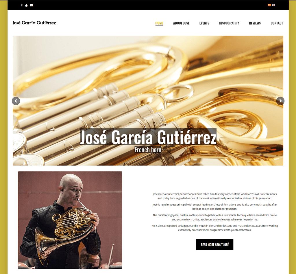 Screenshot from José García Gutiérrez's website